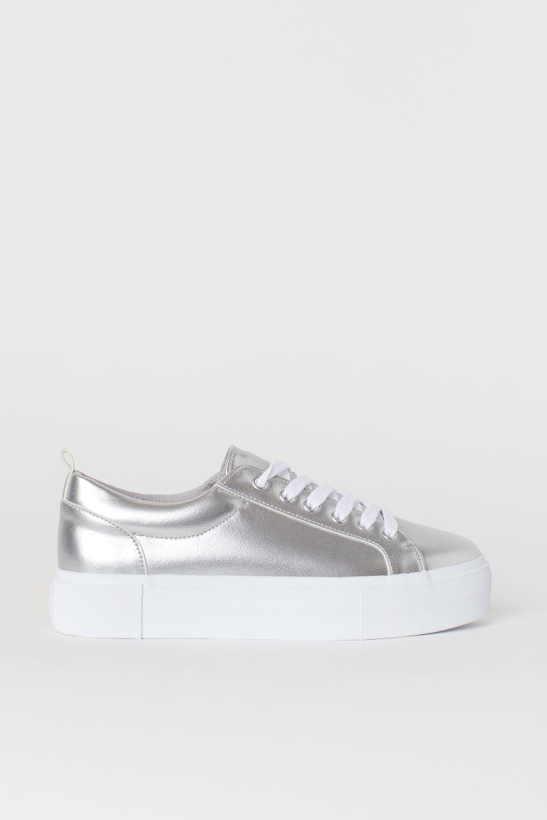 Platform trainers - Silver-coloured -  | H&M