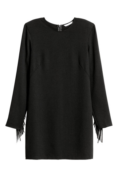 Dress with fringes - Black -  | H&M