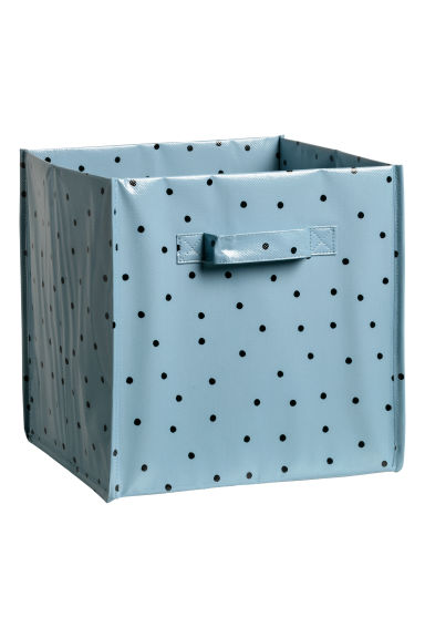 Storage box - Pigeon blue/Black spotted - Home All | H&M IE