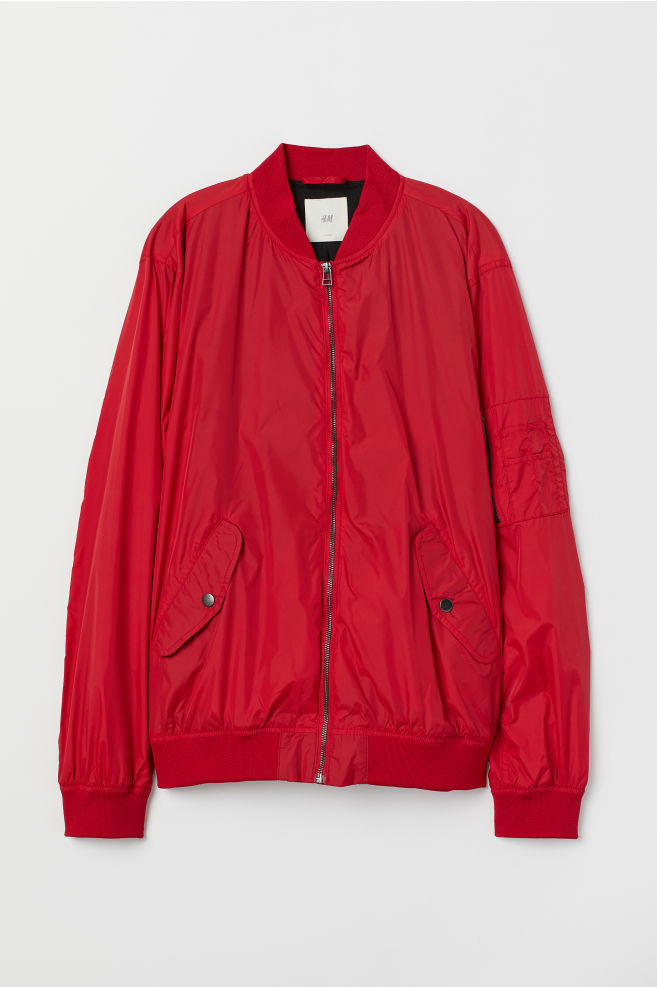 Bedwelming Nylon Bomber Jacket - Red - | H&M US &EE83
