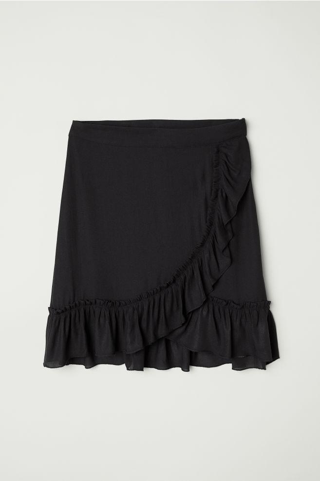 d7d503da92 Chiffon Skirt - Black - Ladies | H&M ...