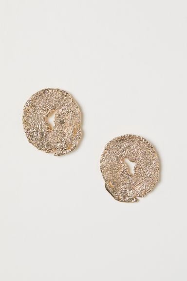 Round earrings - Gold-coloured - Ladies | H&M CN