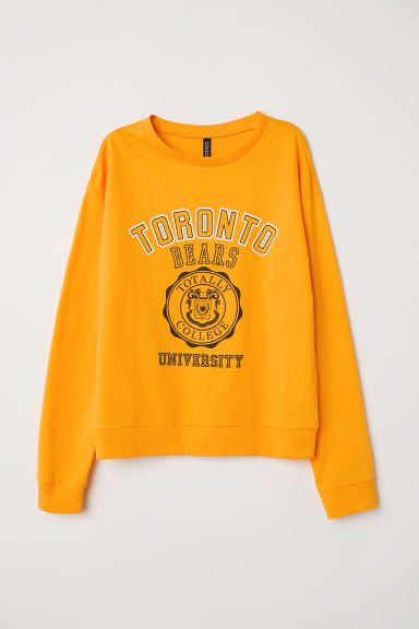 Printed sweatshirt - Yellow/Toronto - Ladies | H&M