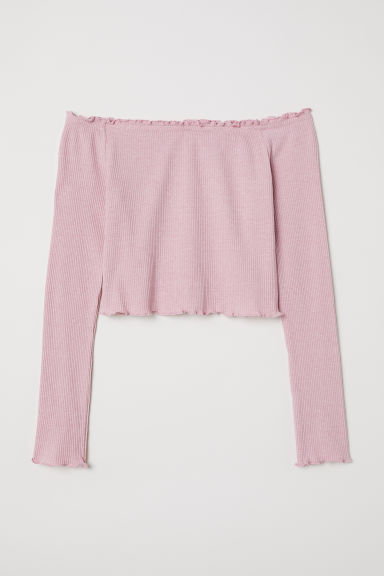 Top a spalle scoperte - Rosa -  | H&M IT