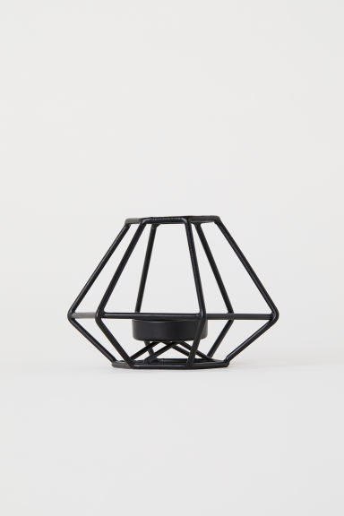Metal Tea Light Holder - Black - Home All | H&M CA