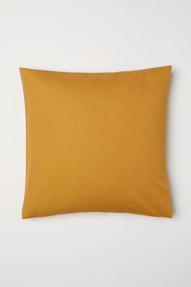 Canvas Cushion Cover - Dark yellow - Home All | H&M US