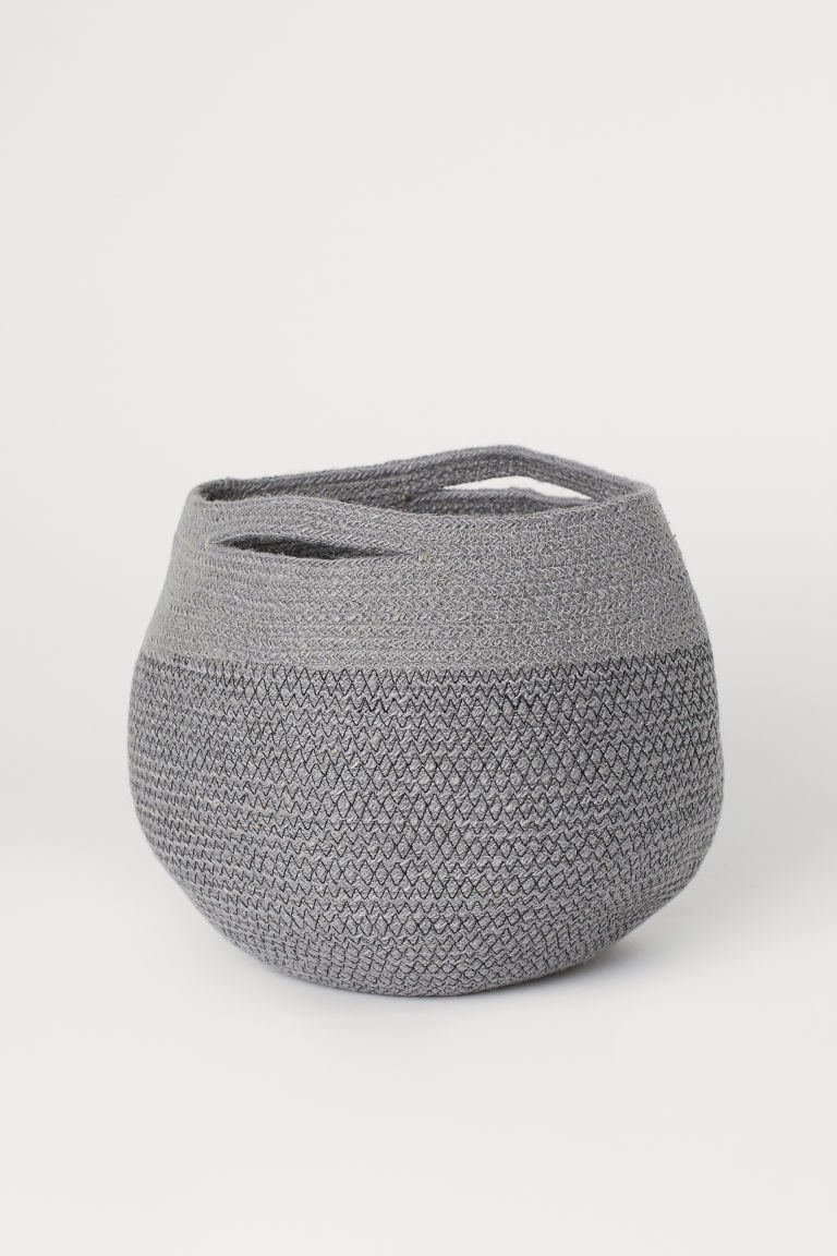 Jute storage basket - Grey - Home All | H&M CN