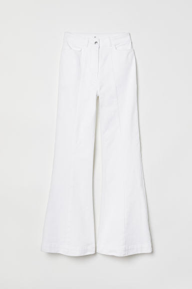 Flare High Jeans - White - Ladies | H&M