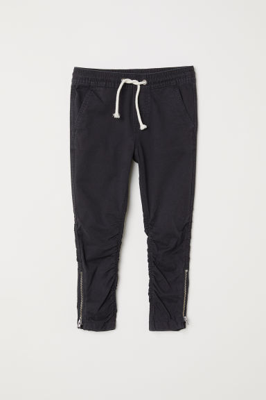 Joggers with zips - Black -  | H&M