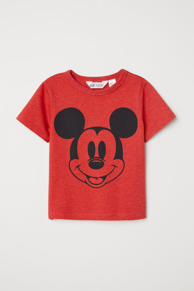 Printed T-shirt - Red/Mickey Mouse - Kids | H&M