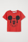 Rood/Mickey Mouse