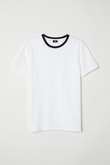 T-shirt Muscle Fit - White - Men | H&M
