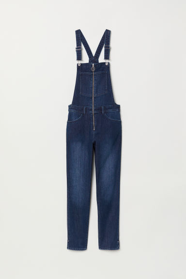 Denim dungarees - Dark blue denim -  | H&M
