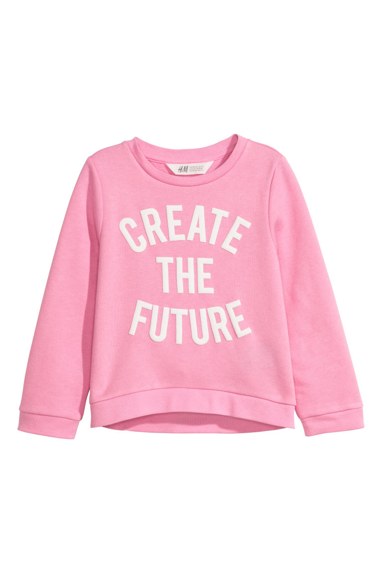 Sweatshirt - Pink/Create the Future - Kids | H&M CN