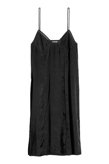 Airy lyocell-blend dress - Black - Ladies | H&M CN