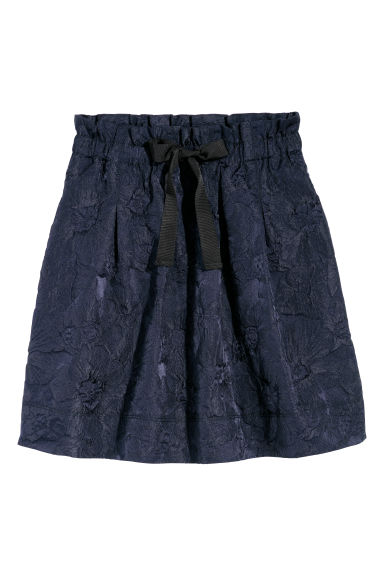 Jacquard-weave skirt - Dark blue - Ladies | H&M
