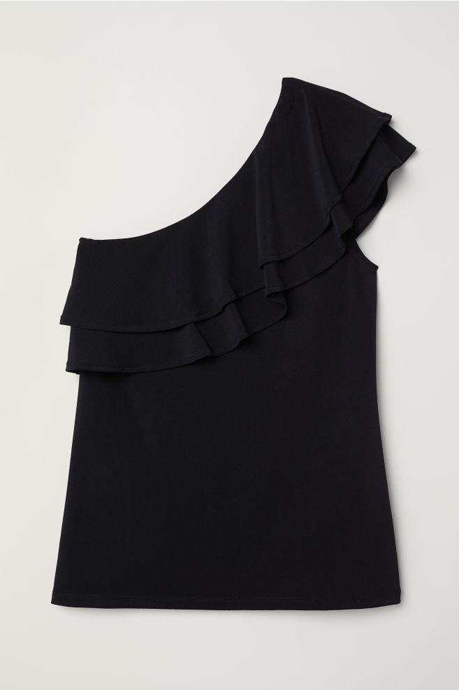 faabcaccbc4a One-shoulder top - Black - Ladies