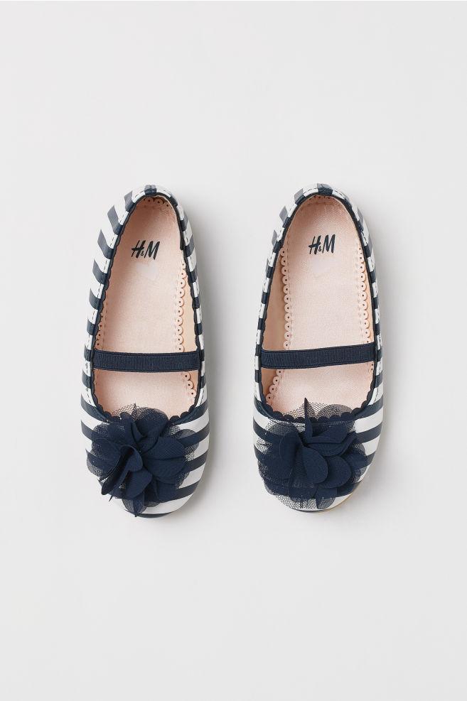 e8228594dcbe Ballet pumps - Dark blue White striped - Kids