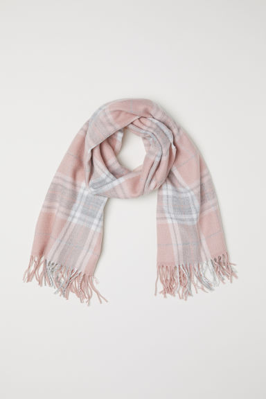 Checked scarf - Light pink/Checked - Kids | H&M