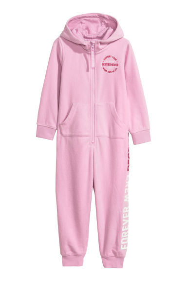 Fleece all-in-one suit - Pink - Kids | H&M