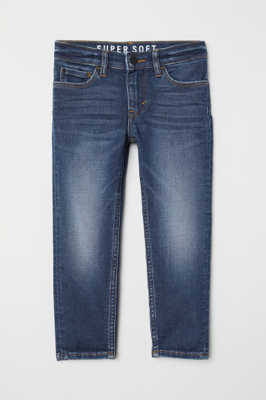 Super Soft Skinny Fit Jeans - 深牛仔蓝 - Kids | H&M CN