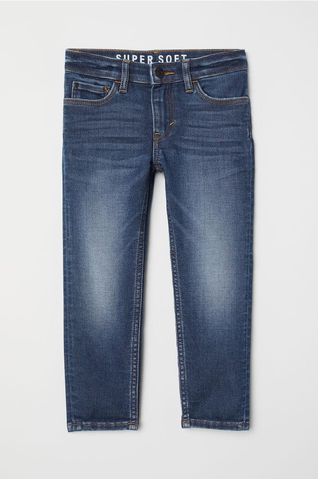 f74a2fb1c75cb Super Soft Skinny Fit Jeans - Dark denim blue - Kids