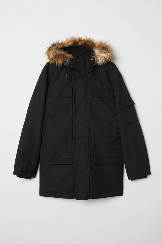 d5794fbd2ea7 Warm-lined Parka - Black - Men | H&M ...