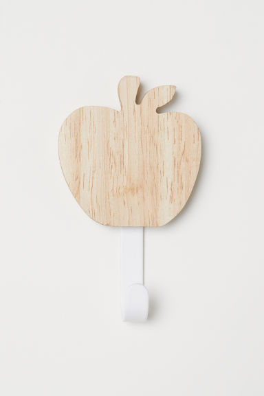 Wood and metal hook - Wood/White - Home All | H&M CN