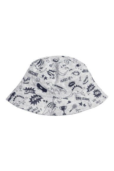 Cotton sun hat - Grey marl/Jersey - Kids | H&M