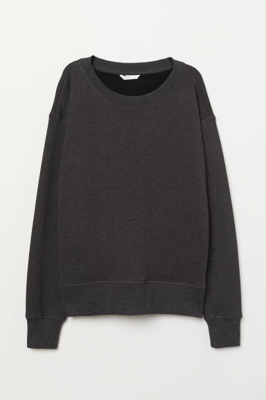 Sweatshirt - Dark grey marl - Ladies | H&M CN