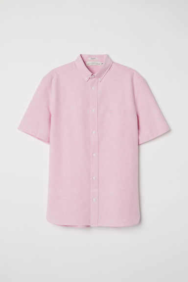 Oxfordhemd - Regular fit - Roze -  | H&M BE