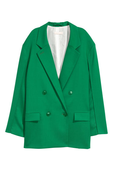 Oversized wool-blend jacket - Green - Ladies | H&M CN