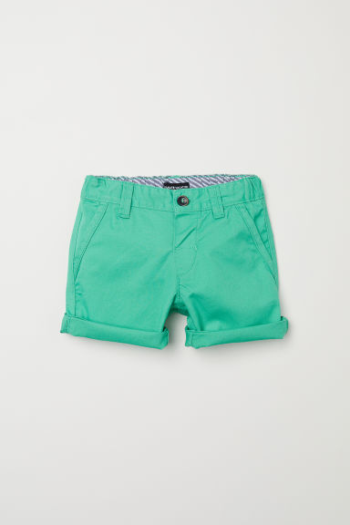 Cotton shorts - Green - Kids | H&M