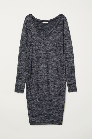 MAMA Jersey dress - Dark blue marl - Ladies | H&M