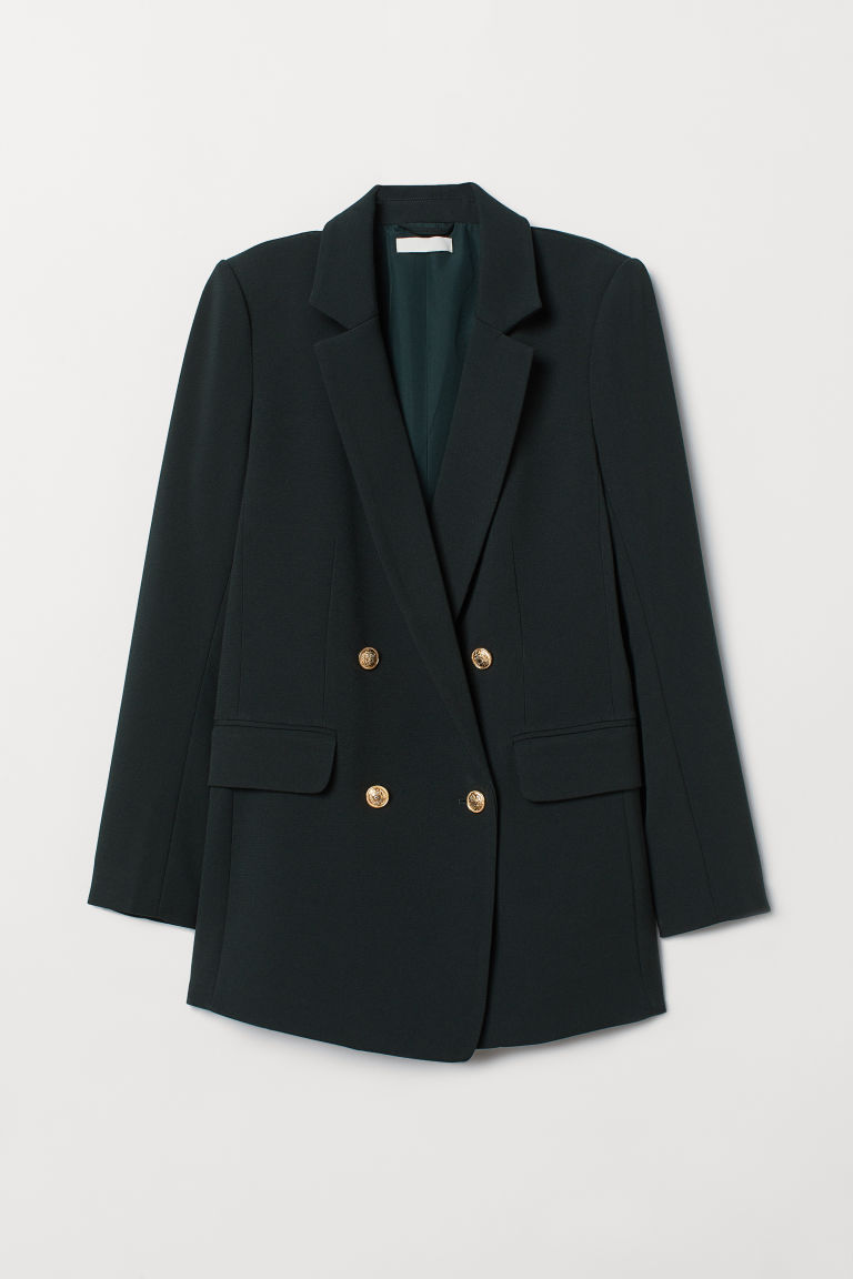Double-breasted Jacket - Dark green - Ladies | H&M CA