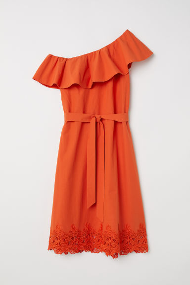 One-shoulder dress - Orange - Ladies | H&M