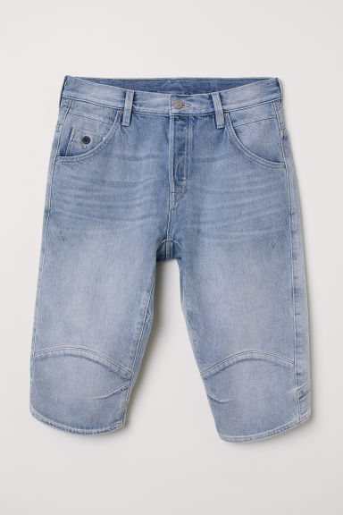 Straight Denim Shorts - Light denim blue - Men | H&M