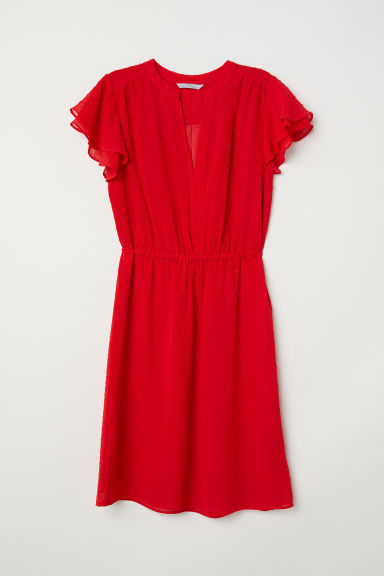 V-neck dress - Red - Ladies | H&M