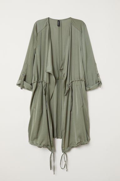 Satin parka - Khaki green - Ladies | H&M