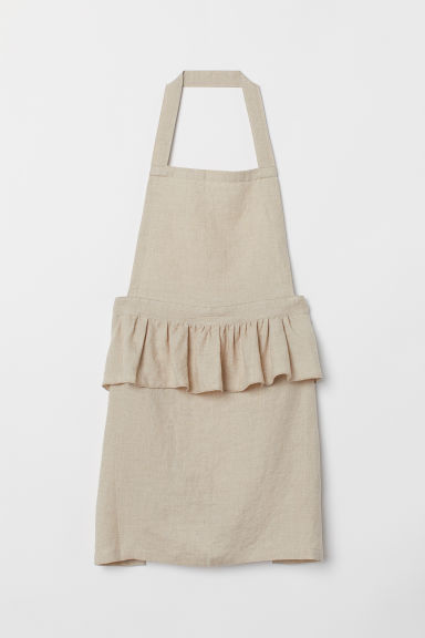 Linen Apron - Light beige - Home All | H&M US