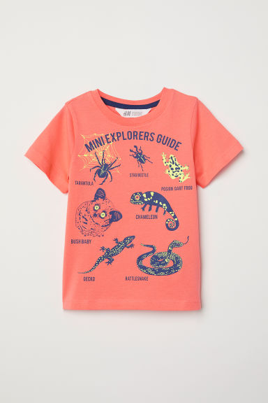 Printed T-shirt - Orange/Animals -  | H&M CN