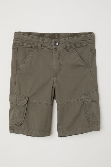 Cargo shorts - Dark khaki green - Kids | H&M CN
