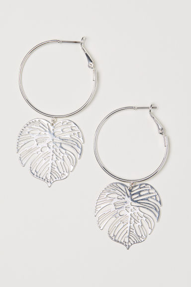 Earrings with pendants - Silver-coloured - Ladies | H&M CN