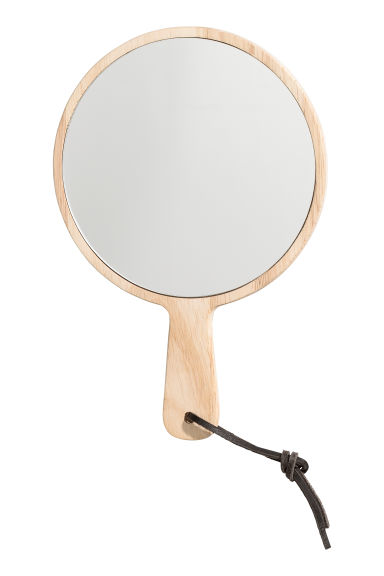 Small mirror with a handle - Wood - Home All | H&M CN