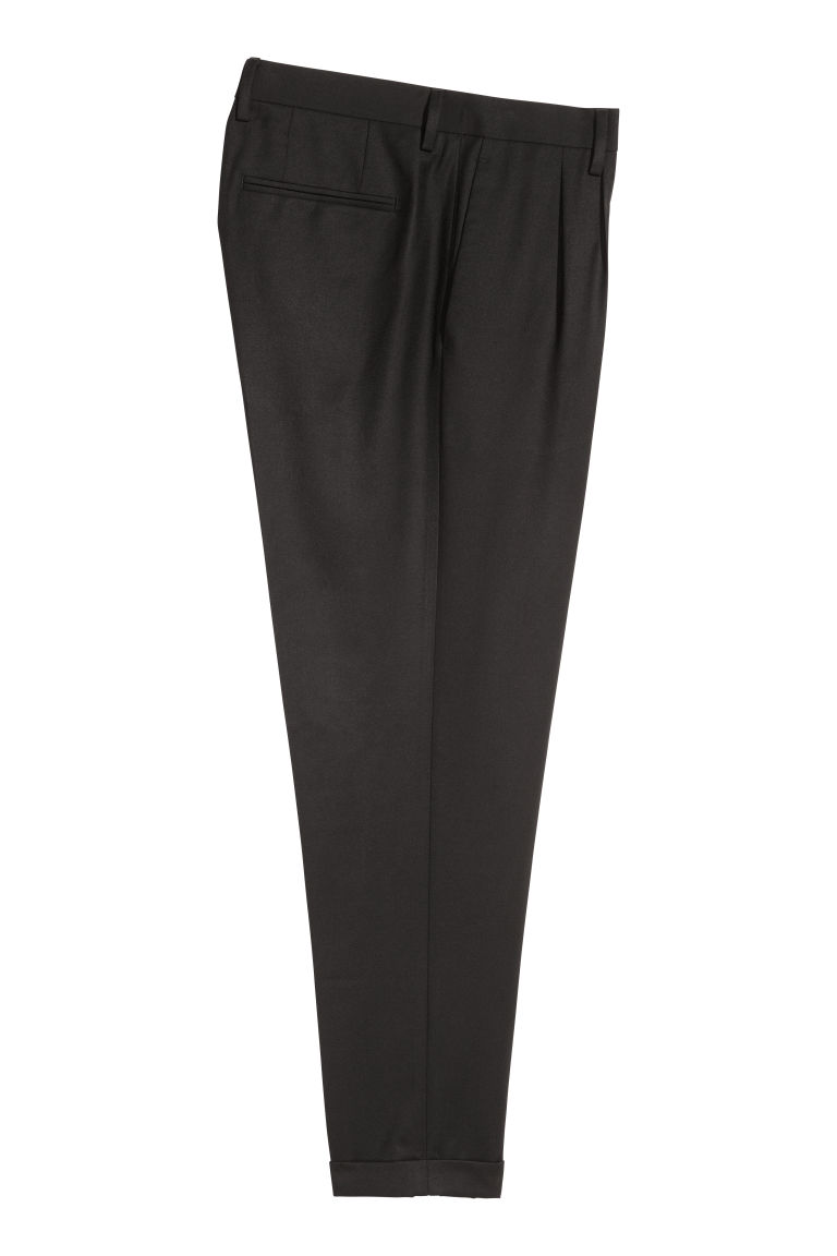 Pantaloni da completo Slim fit - Nero - UOMO | H&M IT