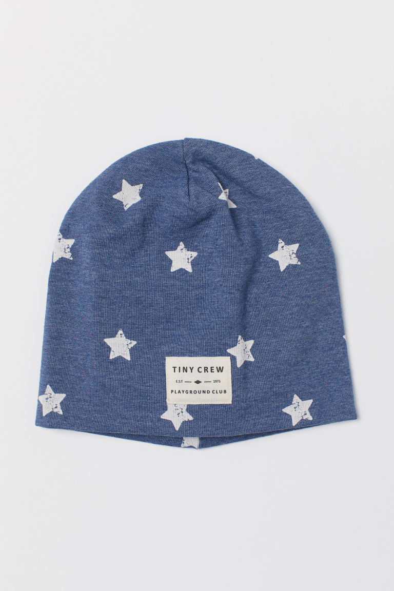 Patterned jersey hat - Blue marl/Stars -  | H&M CN
