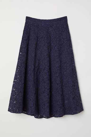 Gonna scampanata in pizzo - Blu scuro -  | H&M IT