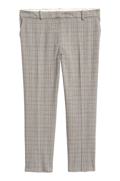 H&M+ Cigarette trousers - Light mole/Checked - Ladies | H&M