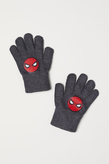 Gloves - Dark grey/Spider-Man - Kids | H&M CN