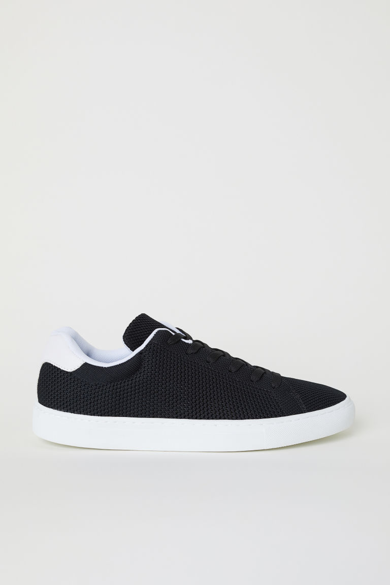 In vorm gestikte sneakers - Zwart/wit - HEREN | H&M BE